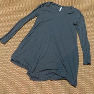 NWOT Z SUPPLY GREY V-NECK T-SHIRT DRESS, M